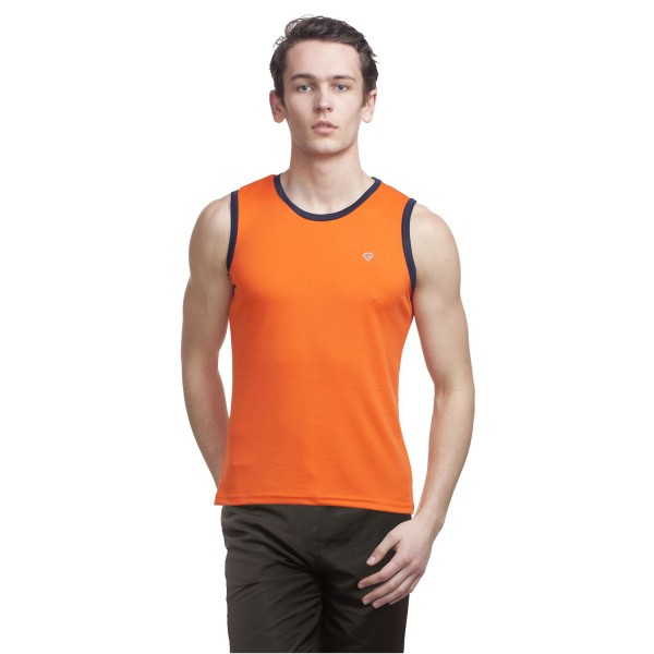Gypsum Mens Cut Sleeve Tshirt Orange Color GYPMCS-00130