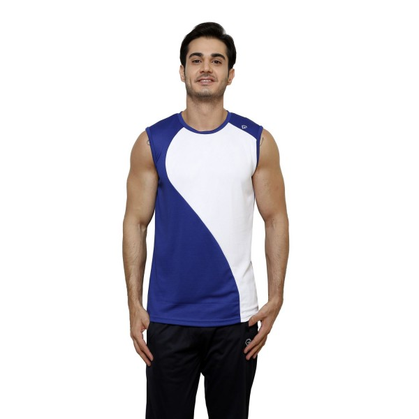 Gypsum Mens Cut Sleeve Tshirt Royal Blue Color GYPMCS-00134