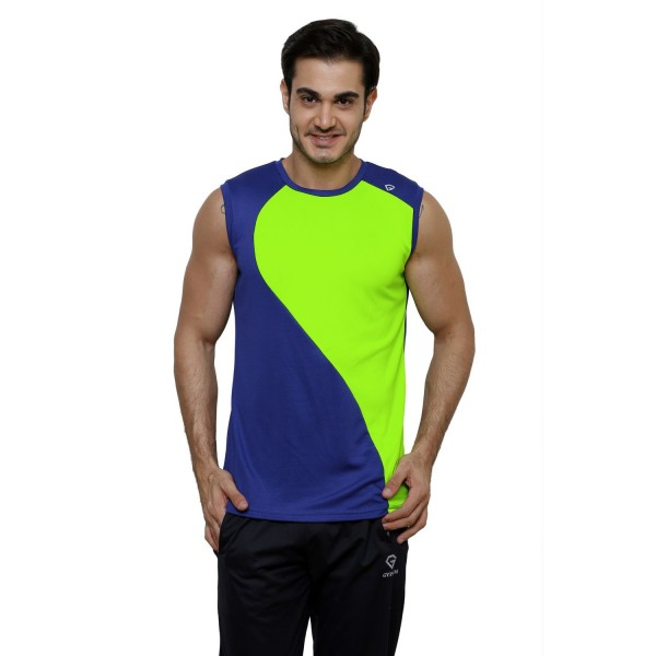 Gypsum Mens Cut Sleeve Tshirt Royal Blue Color GYPMCS-00135