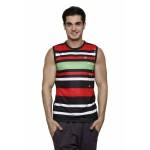 Gypsum Mens Printed Cut Sleeve Tshirt Black Color GYPMCS-00154