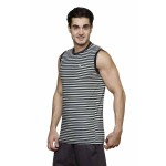 Gypsum Mens Printed Cut Sleeve Tshirt Black Color GYPMCS-00155