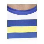 Gypsum Mens Printed Cut Sleeve Tshirt Royal Blue Color GYPMCS-00158