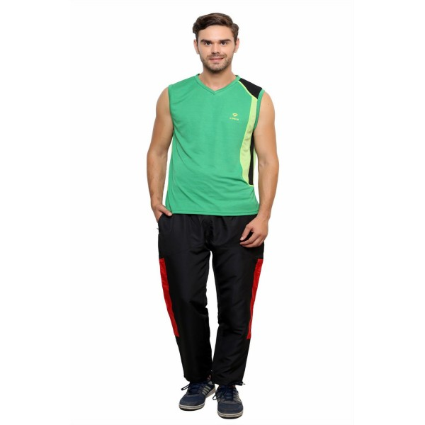 Gypsum Mens Round Neck Sleeveless Tshirt P.Green Color GYPMCS-029