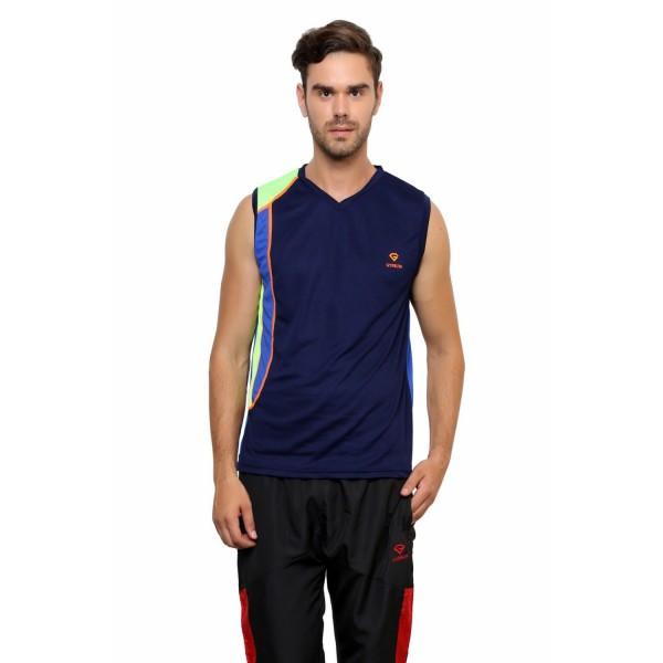Gypsum Mens Round Neck Sleeveless Tshirt Navy Color GYPMCS-033
