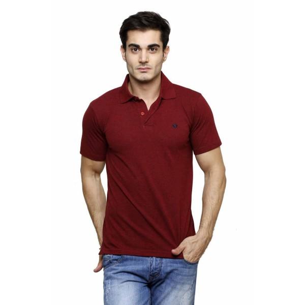 Gypsum Mens Polo Tshirt Maroon Color GYPMPT-00176