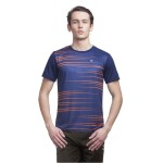 Gypsum Mens Printed Round Neck Tshirt Navy Color GYPMRN-00113