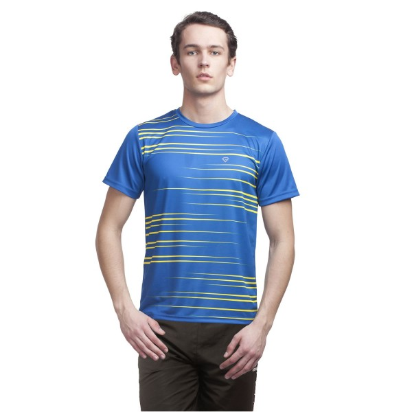 Gypsum Mens Printed Round Neck Tshirt Royal Blue Color GYPMRN-00114