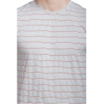 Gypsum Mens Stripe Round Neck Tshirt Grey  Color GYPMRN-00119