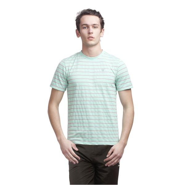 Gypsum Mens Stripe Round Neck Tshirt Light Green Color GYPMRN-00120