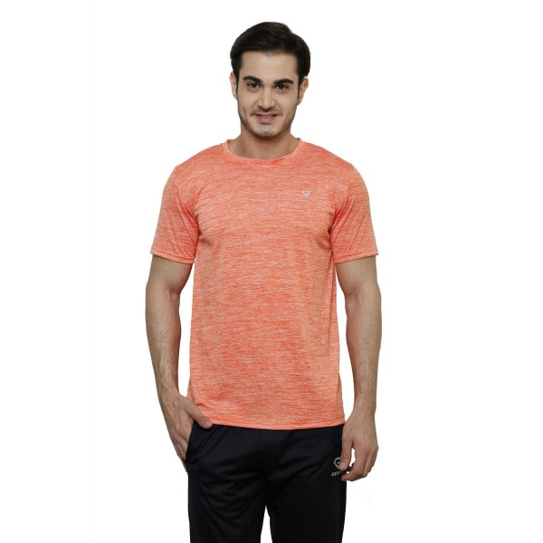 Gypsum Mens Round Neck Tshirt Orange Color GYPMRN-00136