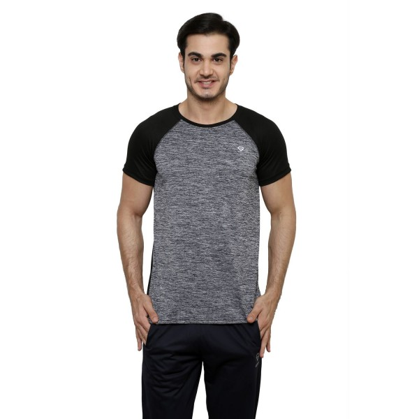 Gypsum Mens Round Neck Tshirt Black Color GYPMRN-00140
