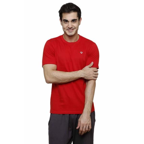 Gypsum Mens Basic Round Neck Tshirt Red Color GYPMRN-00163
