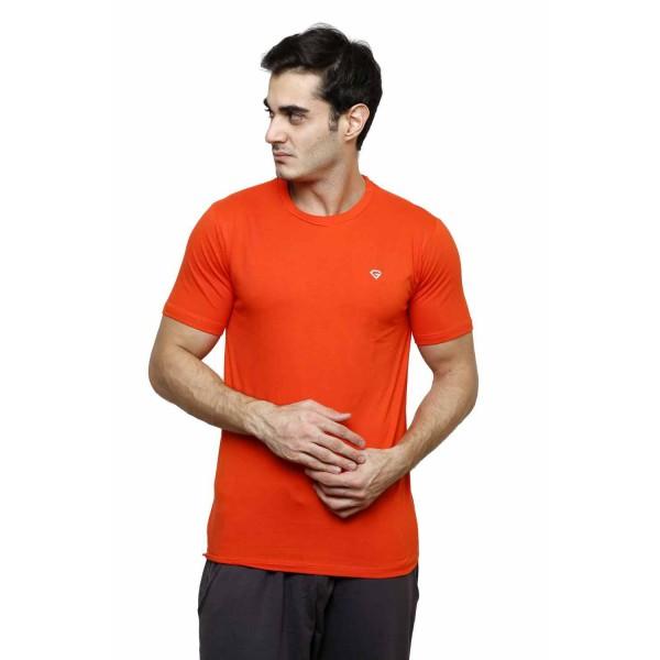 Gypsum Mens Basic Round Neck Tshirt Orange Color GYPMRN-00165