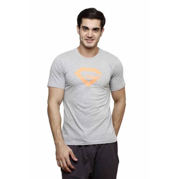 Gypsum Mens Printed Round Neck Tshirt Grey  Color GYPMRN-00172