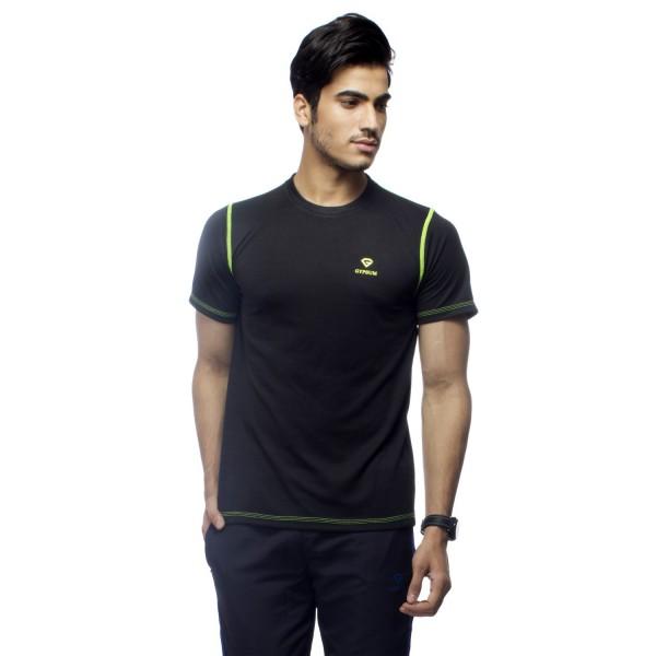 Gypsum Mens Round Neck Tshirt Black Color GYPMRN-0066