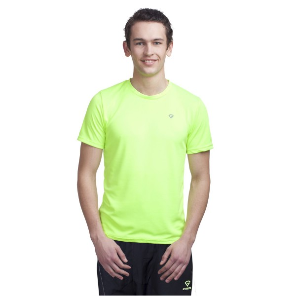 Gypsum Mens Round Neck Tshirt Floroscent Green Color GYPMRN-0098