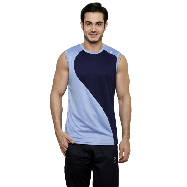 Gypsum Mens Cut Sleeve Tshirt Sky Blue Color GYPMCS-00148