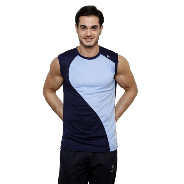 Gypsum Mens Cut Sleeve Tshirt Navy Color GYPMCS-00149