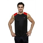 Gypsum Mens Cut Sleeve Tshirt Black Color GYPMCS-00150