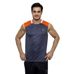 Gypsum Mens Cut Sleeve Tshirt Dark Grey Color GYPMCS-00151