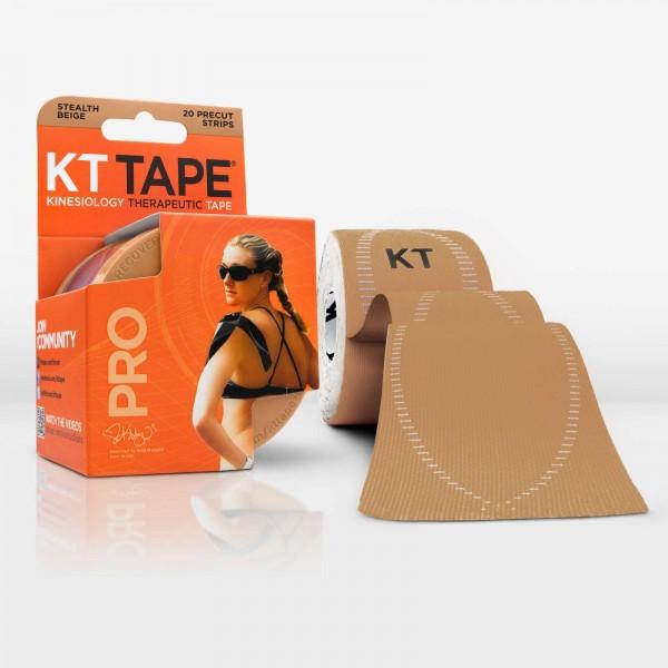 KT Tape Pro Pre-Cut 20 Strip Synthetic Stealth Beige