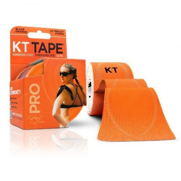 KT Tape Pro Pre-Cut 20 Strip Synthetic Blaze Orange