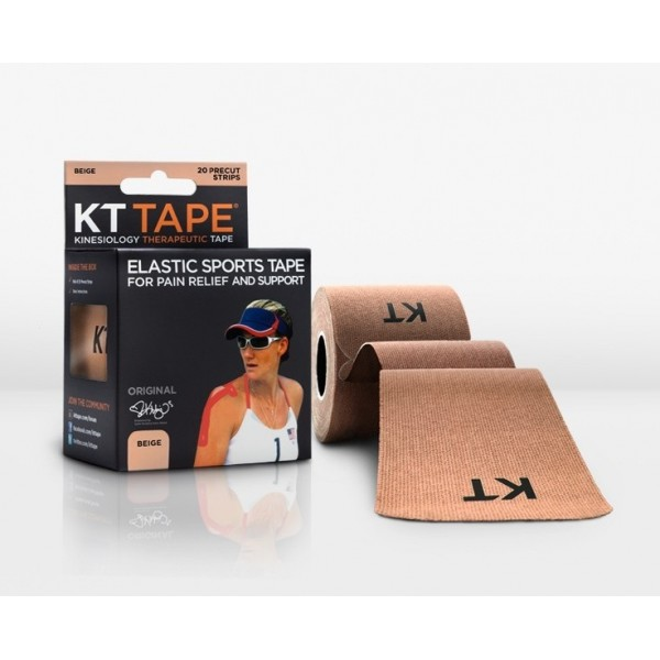 KT Tape Original Pre-Cut 20 Strip Cotton Beige