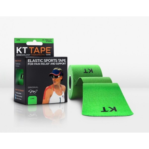 KT Tape Original Pre-Cut 20 Strip Cotton Lime
