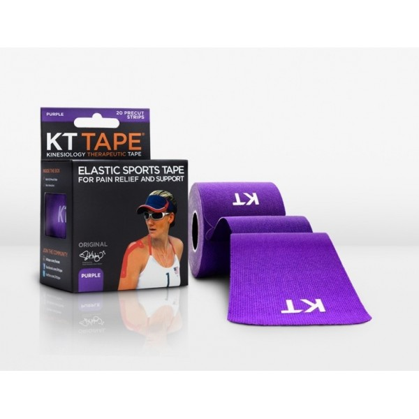 KT Tape Original Pre-Cut 20 Strip Cotton Purple