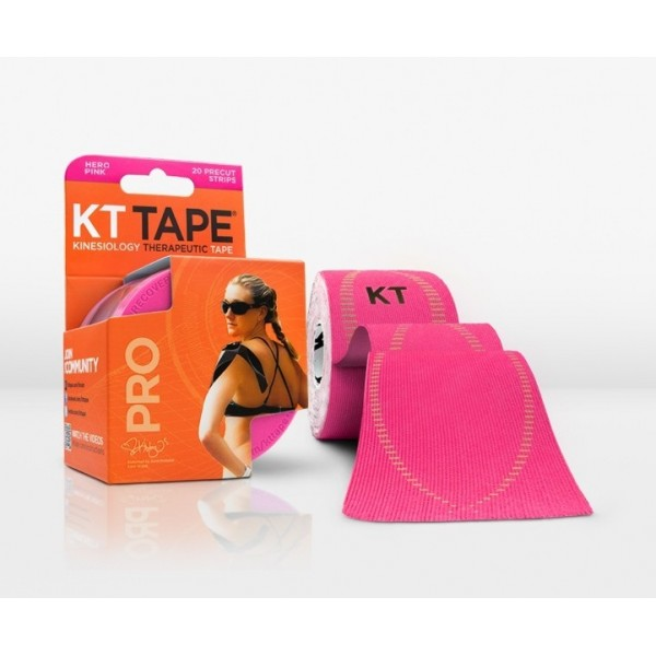 KT Tape Pro Pre-Cut 20 Strip Synthetic Hero Pink