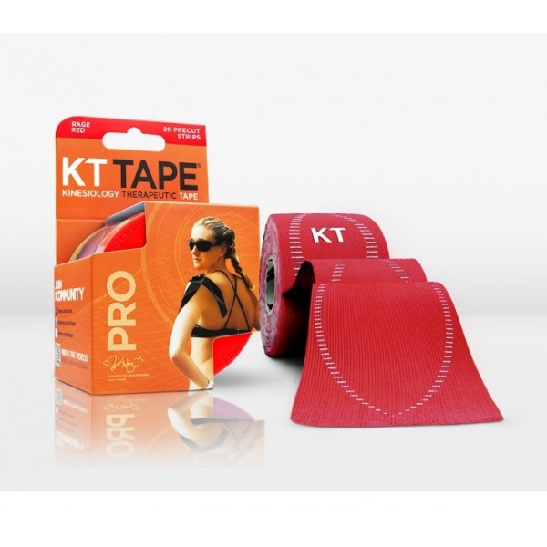 KT Tape Pro Pre-Cut 20 Strip Synthetic Rage Red