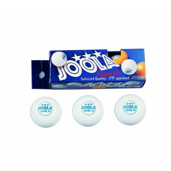 Joola JLA-Super 40 White 3 Pcs Balls Pack Table Tennis Blades