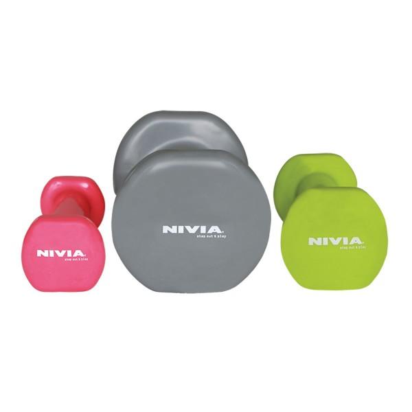 Nivia Vinyl Dumbbell 2 Kg Grey