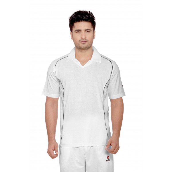 Omtex Grasshopper Cricket Whites t-Shirt (Half Sleeves)
