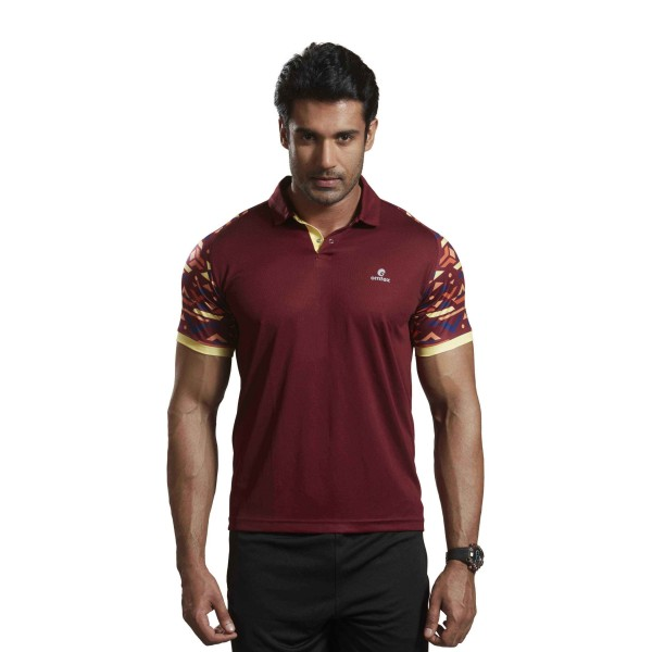 Omtex Active Wear Tshirts Maroon