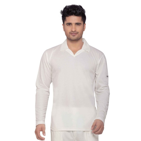 Omtex Wolf Cricket Whites T-Shirt (Full Sleeves)
