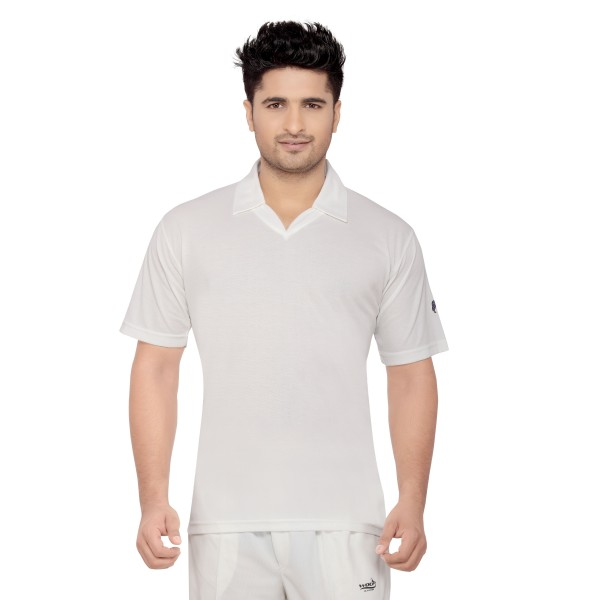 Omtex Wolf Cricket Whites T-Shirt (Half Sleeves)