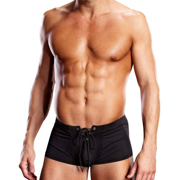 Blueline Performance Microfiber Lace-Up Sports Brief Black
