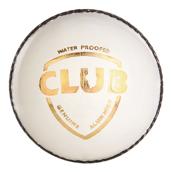 SG Club White Cricket Leather Ball