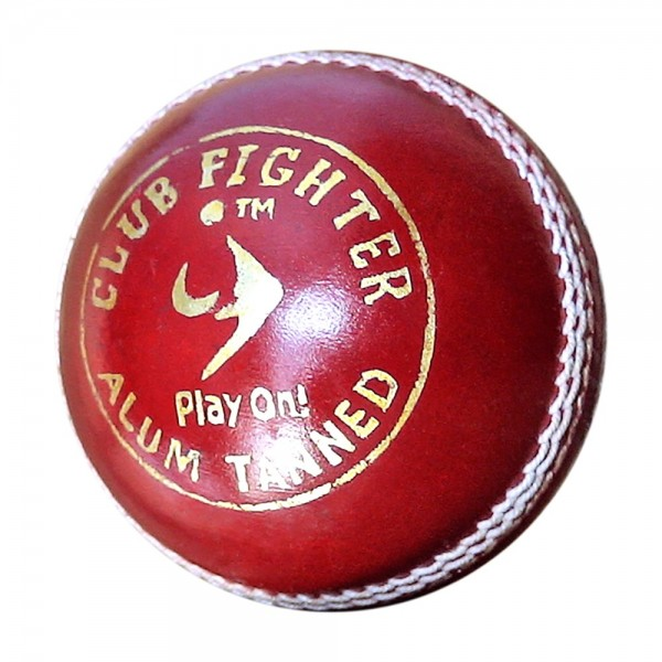 SM Club Fighter Cricket Leather Ball