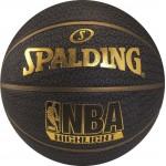 Spalding NBA Highlight Basketball (7, Black/Gold)