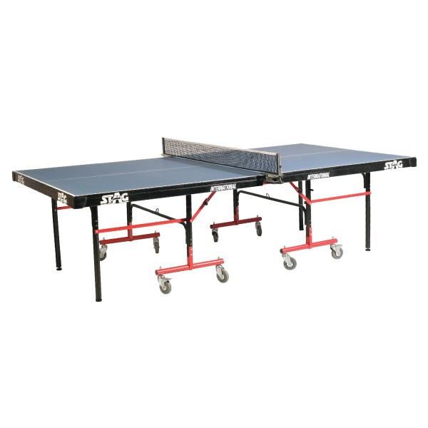STAG International Top 25 mm Pre Laminated 100 mm Wheels Table Tennis Table