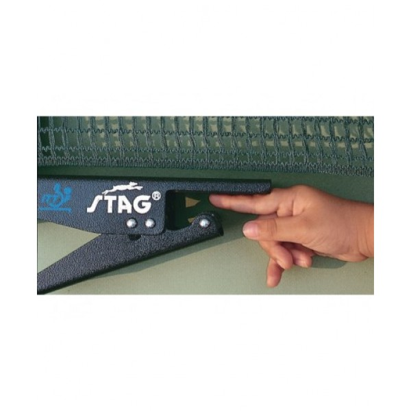 STAG Snap On (Safety) I.T.T.F. Approved Table Tennis Post with Net (Per Pair)