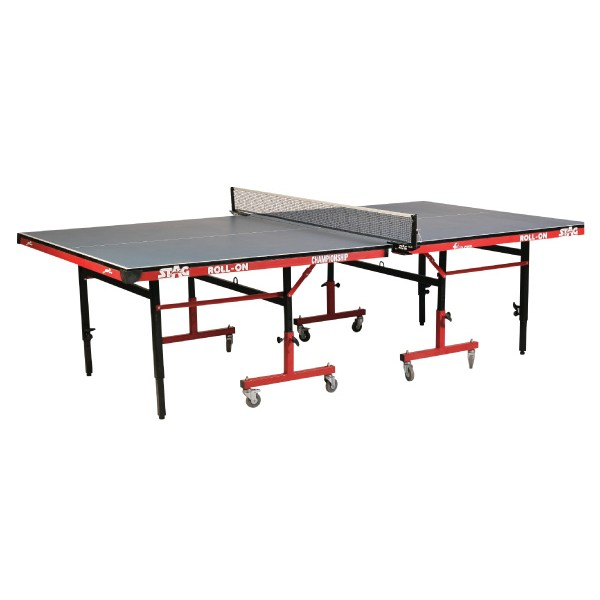 STAG Championship Roll-On with 75mm Wheels & Levelers Table Tennis Table