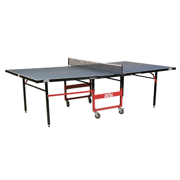 STAG Center Fold Very Strong 7 Sturdy with 16 mm Top 75 mm Wheels Table Tennis Table