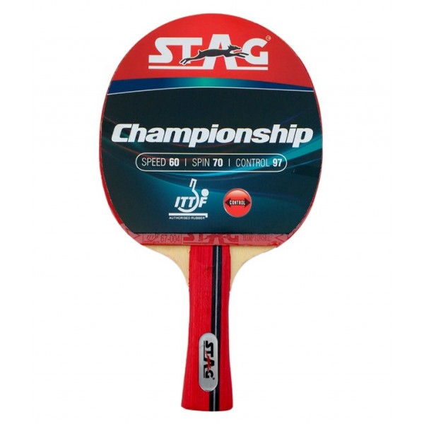 STAG Championship with I.T.T.F. Authorised Rubber Table Tennis Racket