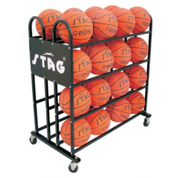 STAG Basketball Trolley for 32 Balls