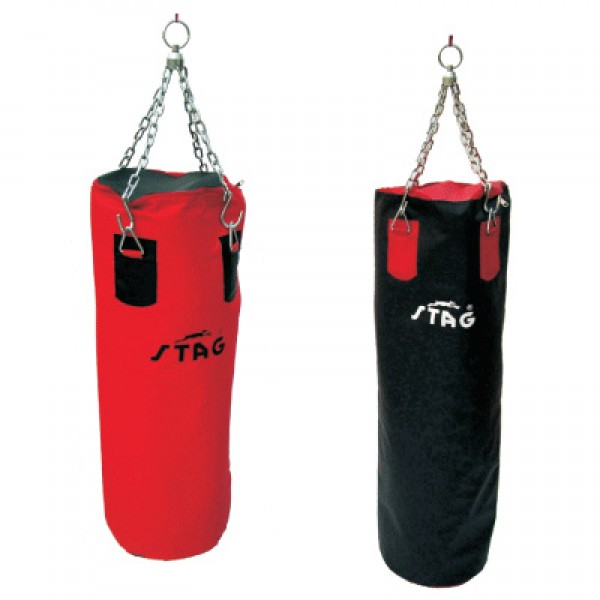 STAG Boxing Punching Bags with 1000 Denier Non Teraing Syn. Fabric120cm