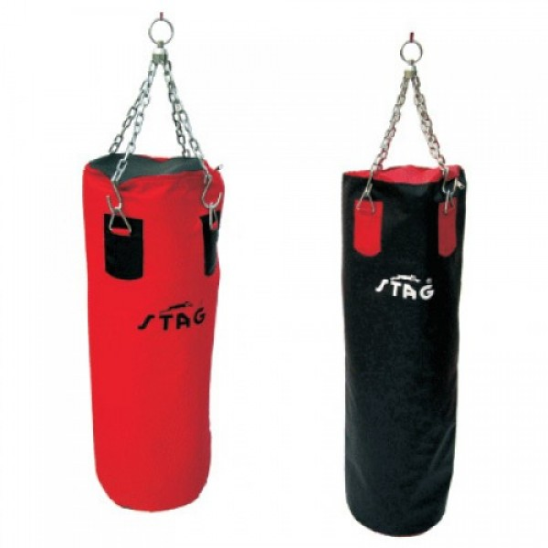 STAG Boxing Punching Bags with 1000 Denier Non Tearing Syn. Fabric 90cm