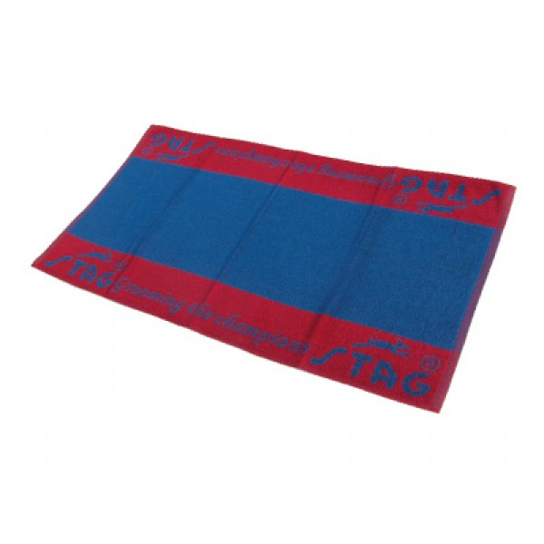 "STAG Towel 100% Cotton Size 24"" X 48"" (Blue/Red)"